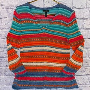 Ralph Lauren LRL Western Light Thin Knit Sweater